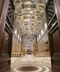 Entering The Sistine Chapel, Saint Peter Basilica, Rome