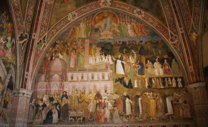 Frescoe inside the Spanish Chapel