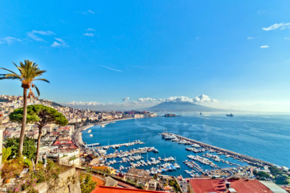 view of Naples from Posillipo hill
