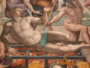 Painting of Martyrdom of Saint Lawrence by Bronzino