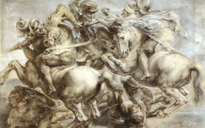 """""""Leonardo da Vinci vs. Michelangelo: The Battle of the Battles"""""""
