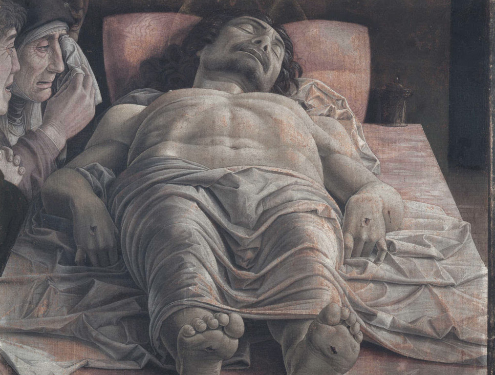 The dead Christ and three mourners*tempera on canvas*68 × 81 cm *1470-1474
