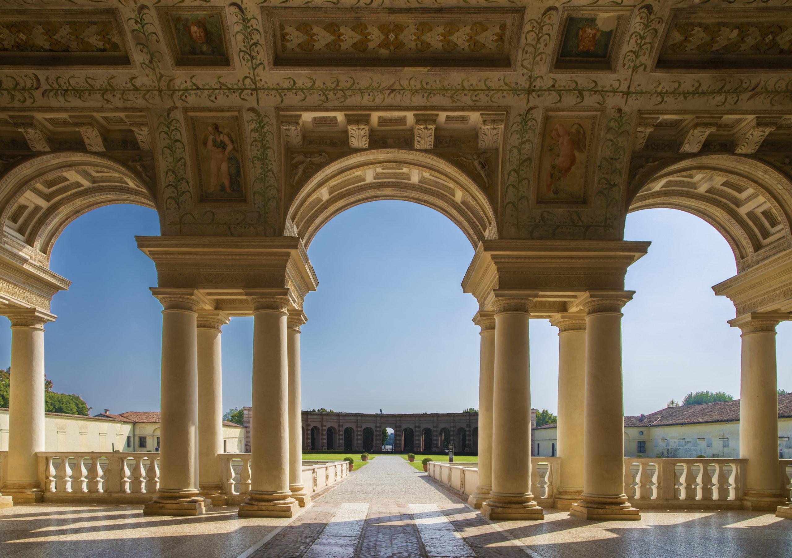 Courtyard of Palazzo Te in Mantua, Italy
